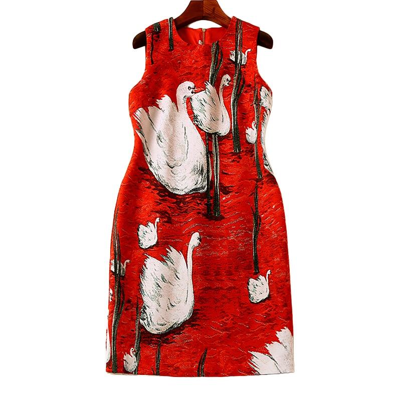 Manches Flamingo Robe Robes Rouge De Partie Nouvelles Haute Vintage Boho Mode Plage Femmes D'été Courte Gilet Élégant Chic Sans Imprimer Qualité q6HxTRnqwr