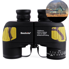 Boshile binoculars 10x50 Zoom Telescope Built-in Rangefinder military Binocular HD High times Waterproof Scope for hunting
