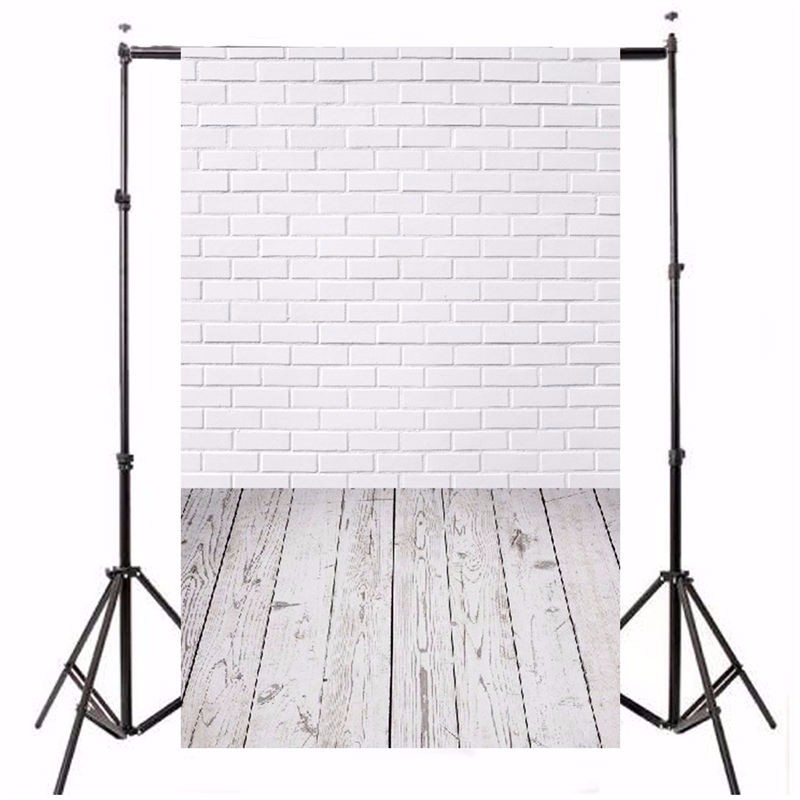 5x7ft Vinyl Photography Background White Brick Wall Old Wood Texture Photographic Backdrops For Studio Photo Props 2.1m x 1.5m dark brown brick wall with white clock photography backdrops wedding background 200x300cm photo studio props fotografia