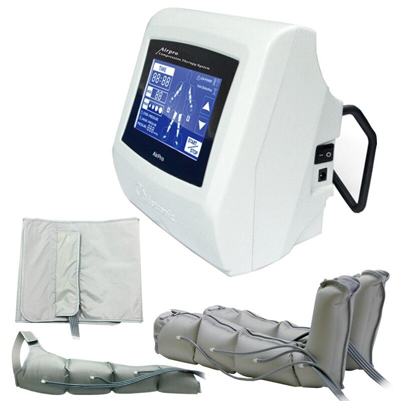5 ''Touch Screen Aria compressione Pressione terapia Macchina Dimagrante Perdita di Peso Massaggio Linfatico Disintossicazione Del Corpo macchina di Bellezza