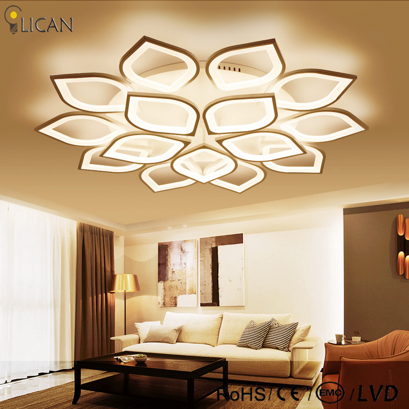 LICAN Ideal Modern Led Ceiling Lights For Living Room Study Room Bedroom Home Dec lamparas de techo Modern Led Ceiling Lamp new design modern led ceiling lights for living room bedroom white or black aluminum home ceiling lamp lamparas de techo