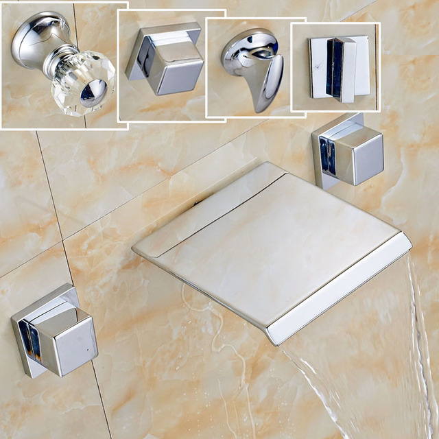 Factory Promotion Best Quality Wall Mounted Bathroom Faucet Chrome ...