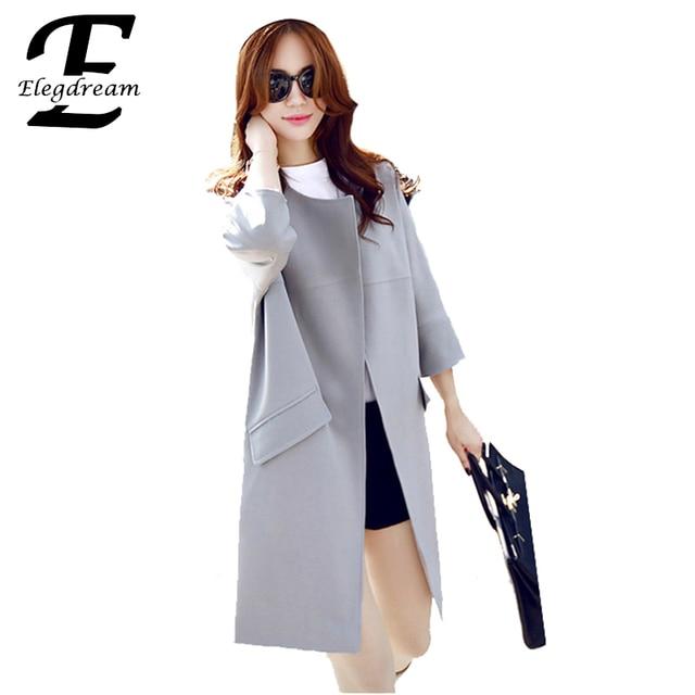 Plus Size Mulheres Roupas Longas Trench Coat 2016 Novas Senhoras Da Moda Primavera Outono Windbreaker Sobretudo Casacos Femininos 5XL XL