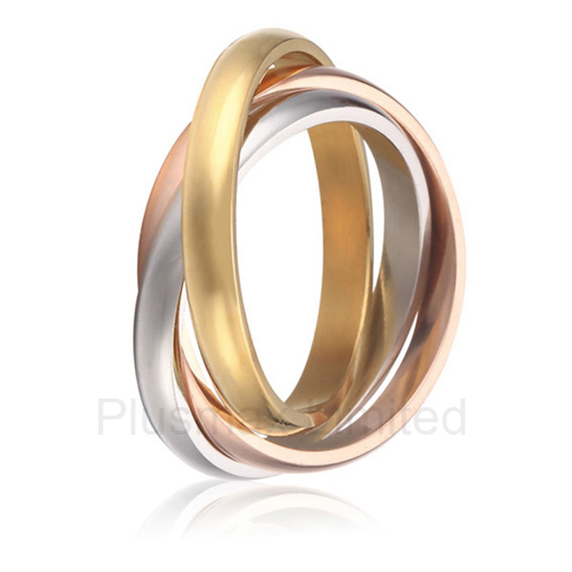 Best China factory love commitment aircraft grade titanium fashion jewelry three color wedding rings band best china factory amazing selection of gold color heart shape titanium wedding band rings for couples