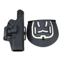Tactical Level 2 Right Hand CQC Pistol Holster Military Concealment Waist Belt Loop Paddle Holster For