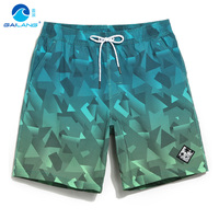 Gailang Board Shorts Couples Beach Surfing Liner Swimwear Fitness Bodybuilding Swimming Trunks Geometric Patterns Bathing Suit