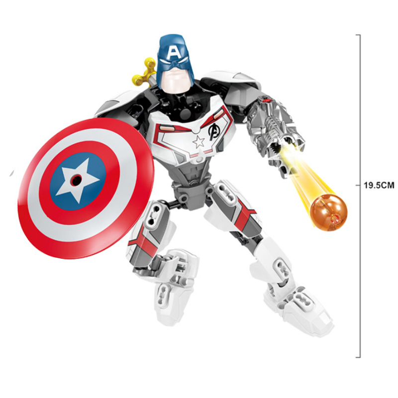 Big Size Marvel Avengers Endgame Super Heroes Thanos Iron Man Hulk Building Blocks Bricks Toys Gift Compatible With Sermoido in Blocks from Toys Hobbies