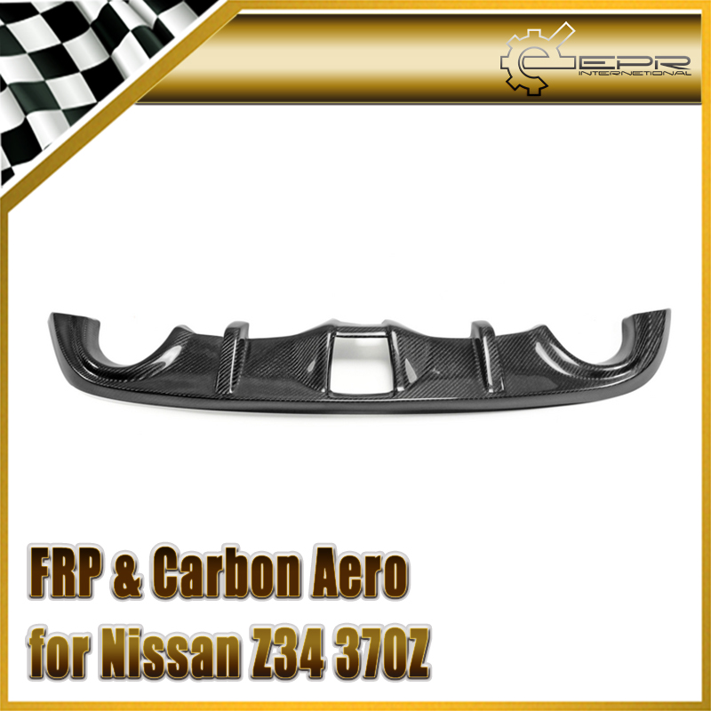 Car-styling For Nissan Z34 370Z Carbon Fiber Rear Bumper Diffuser Surround Protect Fibre Auto Trim Racing Body Kit Accessories