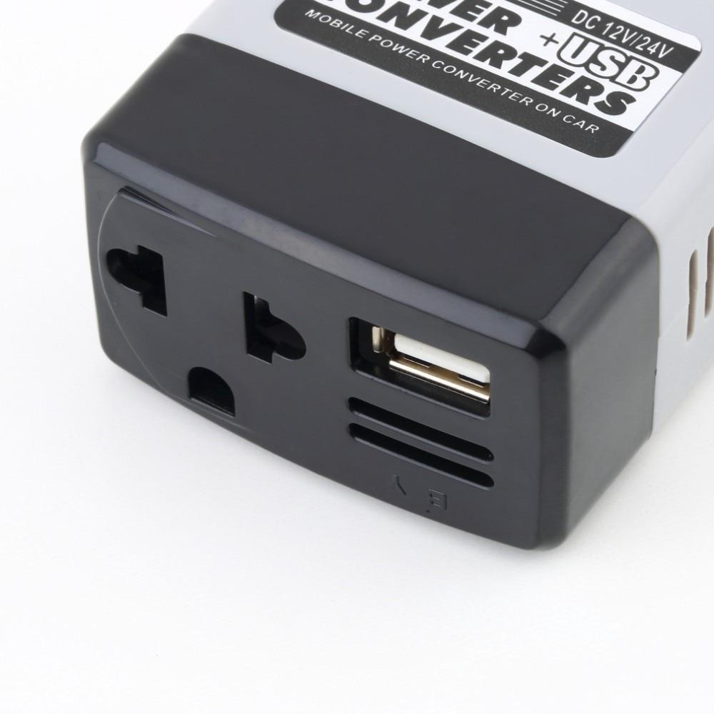 DC 12 V/24 V к переменному току 220V USB 6 v автомобиль мобильный Мощность Инвертор адаптер автомобильный преобразователь питания Зарядное устройство используется для всех телефонов инвертор 12 V