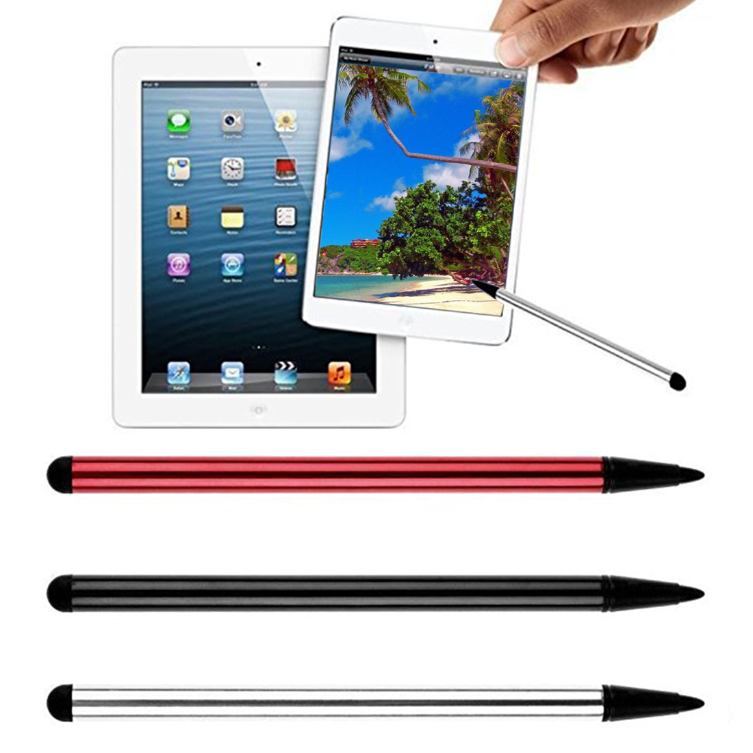 Caneta Stylus Universal capacitiva Stylus Pen Tablet TouchScreen Para iPad iPhone Para Samsung Mobile Phone Tablet PC Pocket PC