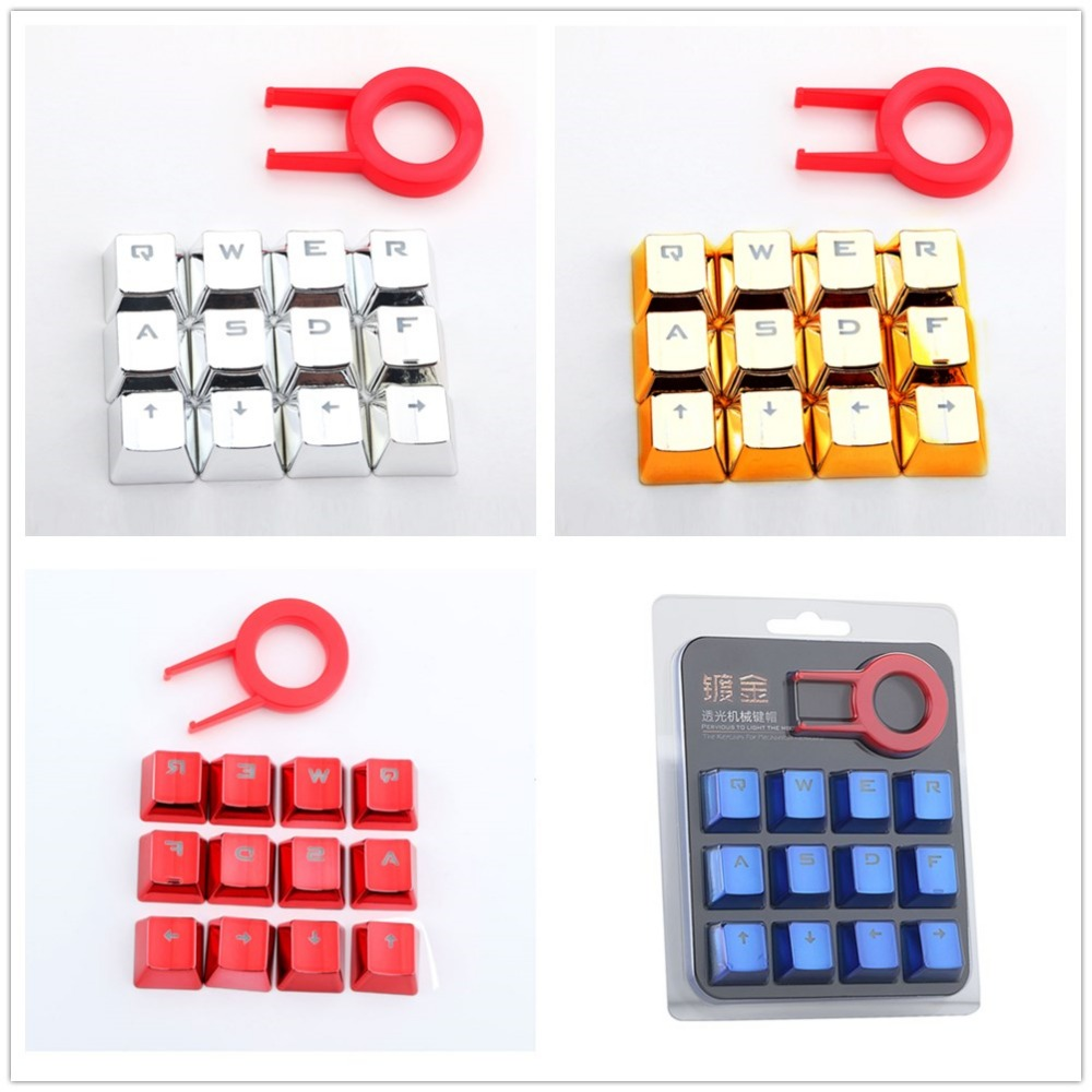 Keyboard Key Cap Set FPS MOBA Gaming Keycaps For Cherry MX Mechanical Keyboard WASD Buttons With Key Puller Bi-color Keycaps Kit