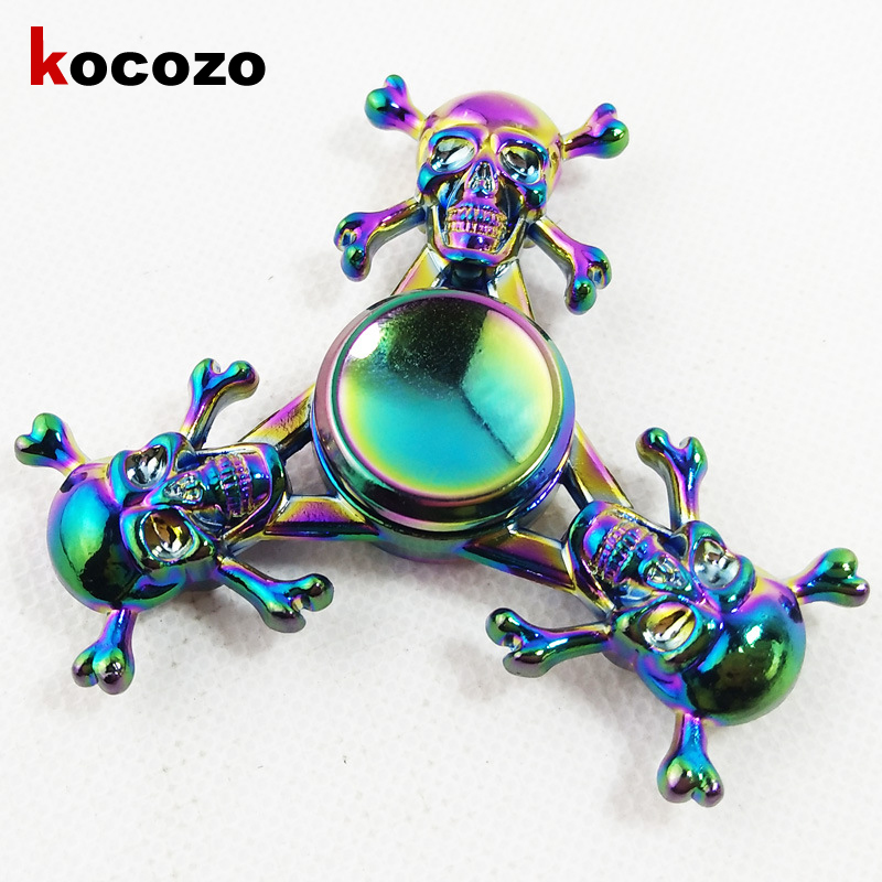 Colorful Fashion Hand spinners Metal Fidget Spinner For Autism and ADHD Kids Gifts Spinner Tri Finger