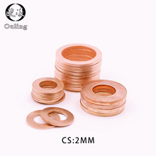 5 uds DIN7603 M6 M8 M10 M12 M14 M16 M18 M20 T3 O anillo de sellado de la Junta anillo Arandela de cobre barco aplastar arandela plana anillo de sello de
