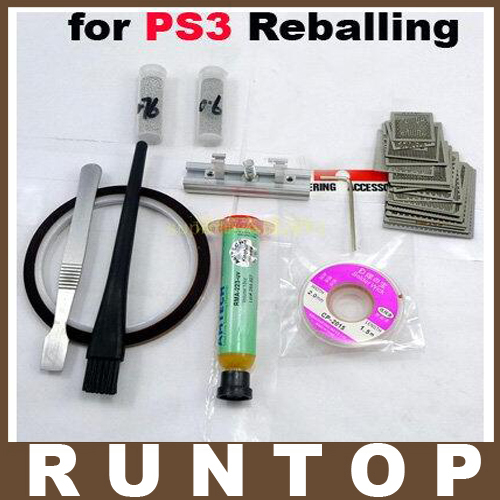 for PS3 Bga Reballing Stencil Tample Kit Diret Heat latest laptop xbox ps3 bga 170pcs template bga kit 90mm for chip reballing