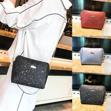 Womens Fashion Sequins Crossbody Bag Pure Color Shoulder Bags Messenger Bag artificial Leather and Sequins New Designer(China)