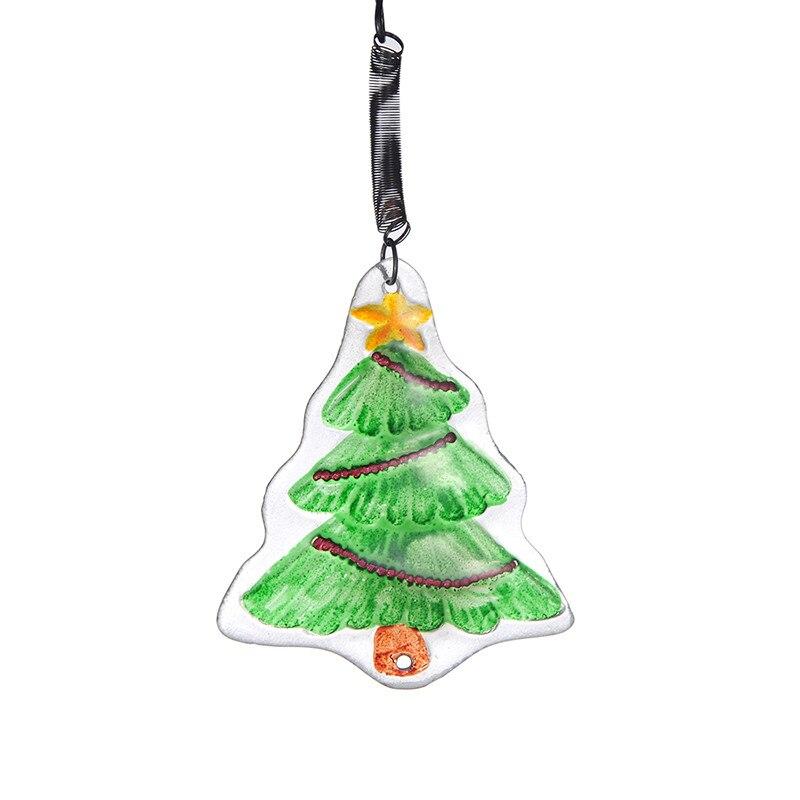 Christmas Tree Decorations Aliexpress: Glass Hanging Green Christmas Tree Pendants Christmas