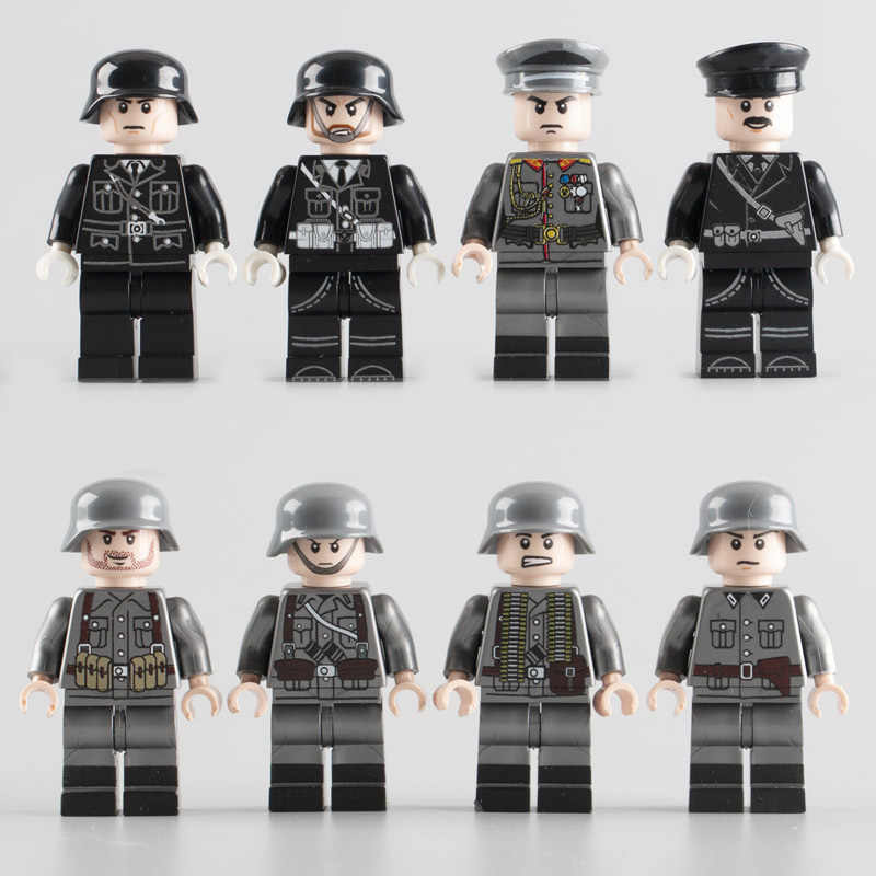 WW2 Military Army Soldiers Building Blocks toys MOC  Germany Army Soldiers Officers figures DIY Blocks Bricks Toys for Children