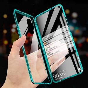 чехол на Huawei Honor 20 чехол Honor20 Хуавей Хонор 20 про 360 Полный Магнитный чехол Передняя Задняя стеклянная крышка huawei Honor 20 Pro Чехол магнит закаленн...