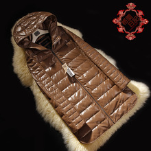 New Fashion Ladies' genuine leather coat,Elegant Slim women's down coat,sheepskin jacket outerwear Free shipping FG263