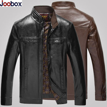 2017 Brand New Men Leather Jackets Pu Leather Jaqueta Masculinas Winter Thick Leather Jacket Male Plus Size L-5XL chaqueta cuero