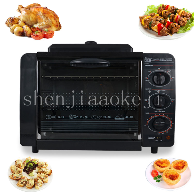 где купить Multi-functional electric oven household Pizza bread oven bake independent temperature control special 110V60Hz 1200w дешево