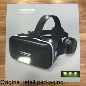 Image 5 - Original VR Virtual Reality 3D Glasses Box Stereo VR Google Cardboard Headset Helmet for IOS Android Smartphone,Bluetooth Rocker
