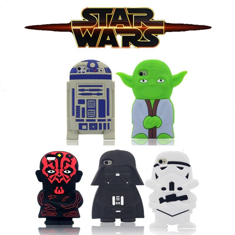 HEIßER Für iPhone6 Fall 3D Cartoon Star Wars Meister Yoda Darth Vader...