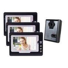 Yobang Security 7″ Night Vision IR Light Doorbell Intercom Video Door Camera Video Door Monitor Door Intercom Entry System
