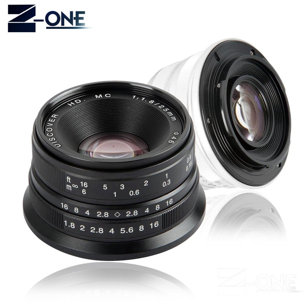 Black/Sliver 25mm F/1.8 HD MC Manual Focus Lens for Sony E NEX Mount Camera A7 A7R A7S A7RII A7SII A6300 A6000 NEX-7 50mm f2 0 aperture manual focus lens aps c for eosm nikon1 m43 sony e mount nex3 5t 6 7 a5000 a6000 a6300 fuji xt1 camera