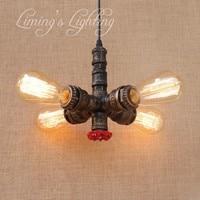 Loft Nordic styl lampa rury wody Edison Retro wisiorek oprawy oświetleniowe RH rocznika przemysłowe oświetlenie jadalnia wiszące lampy w Wiszące lampki od Lampy i oświetlenie na