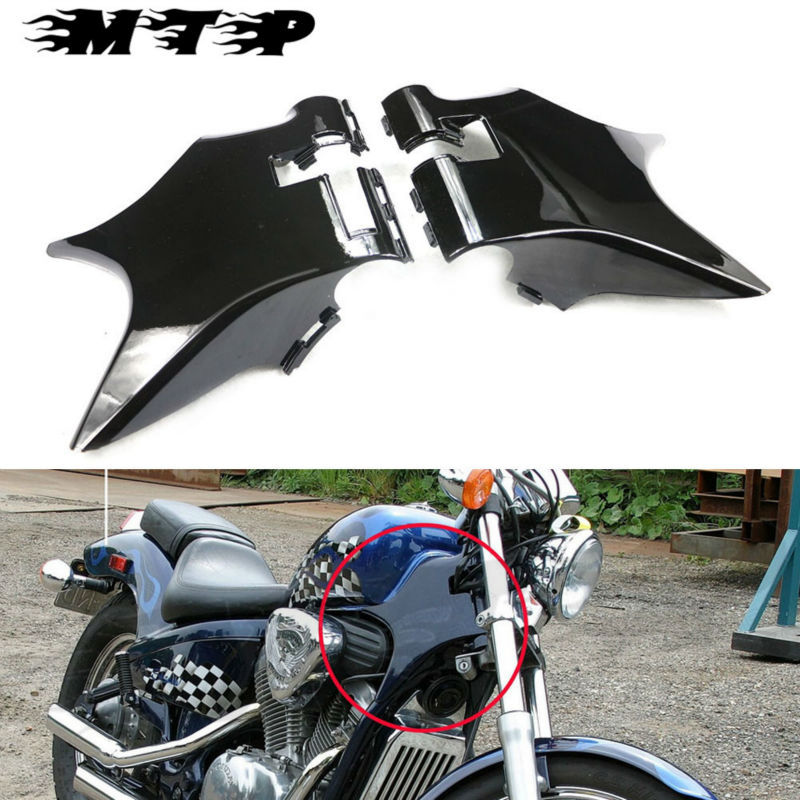 For 88-98 Honda Shadow VT600 VLX 600 STEED 400 Motorcycle ABS Plastic Frame Neck Cover Cowl Wire Covers Side Frame Guard Black for 88 98 honda shadow vt600 vlx 600 steed 400 motorcycle abs plastic frame neck cover cowl wire covers side frame guard black