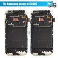 For Samsung Galaxy S4 i9500 LCD Display Touch Screen Digitizer Assembly with Frame White blue Free Shipping