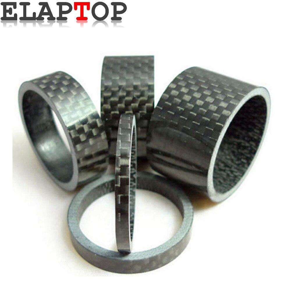 """Bike Headset Spacers 1/"""" 1 1//8/"""" 2 3 5 8 10 15 20 mm black white washer 25.4 28.6"""