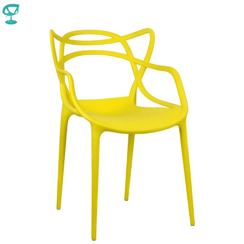 94976 barneo N-221 plástico cozinha interior fezes cadeira para uma rua cafe cadeira móveis de cozinha amarelo frete grátis na rússia