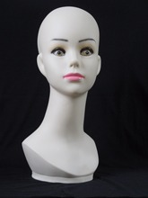 High quality Realistic Plastic  female mannequin dummy head, Manikin heads for hat display
