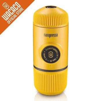 Wacaco Nanopresso Portable Espresso Coffee Maker/Machine, Upgrade Version of Minipresso, 18 Bar Pressure, Yellow Patrol Edition.