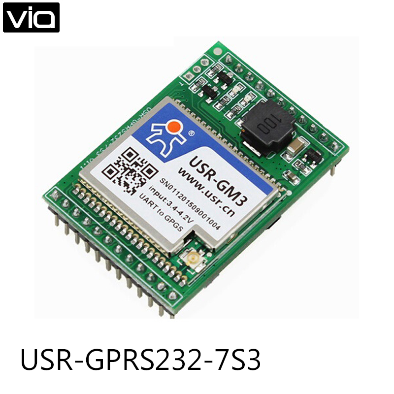 USR-GPRS232-7S3 Free Shipping Serial UART TTL to GPRS/GSM/EDGE Module Httpd Client Supported usb to gsm serial port gprs sim800c module with bluetooth ultra sim900a computer control call