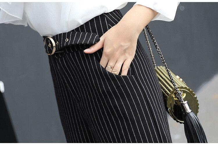 En Pour Offres Pantalon Rayé Tempérament Automne D'hiver 2019 Office Lady Nouveauté De Femme Lâche Et Large Black Mode Spéciales Ol Bas qa5xUqPtyw