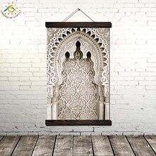 Марокканская Акварель Исламское Искусство Современная Стена Поп-Арт Плакаты и Принты Scroll Холст