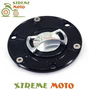Billet CNC sin llave de Gas tapa de cubierta de tanque de combustible para Aprilia RSV1000 Mille RS125 RS250 Tuono Triumph Daytona 675 955I Sprint Triple