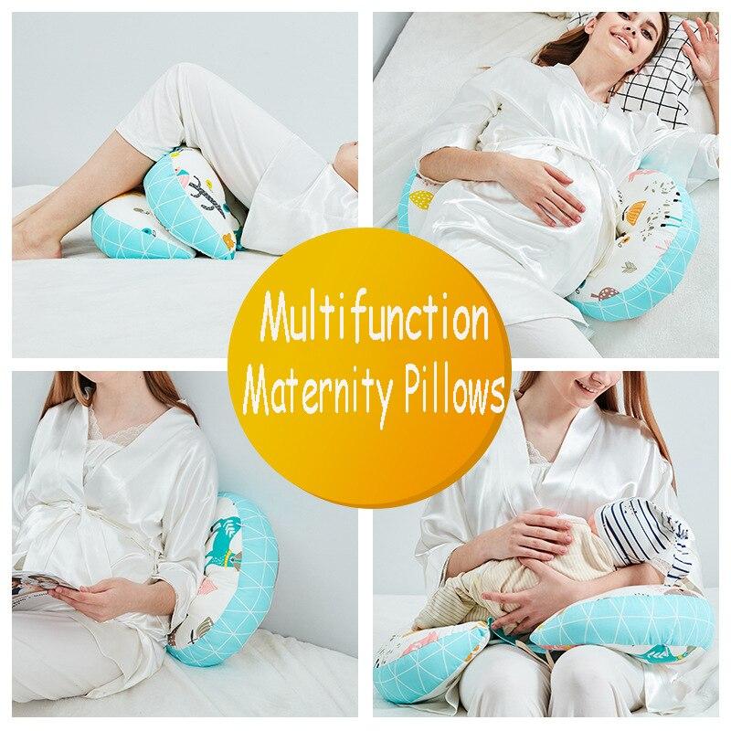 Многофункциональные u-образные подушки для беременных женщин поддержка живота боковые шпалы Мягкая Подушка для беременных хлопок
