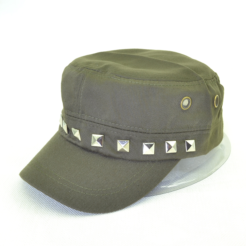 Rivets Army Cap Flat top Snapback hat Solid Color Hats for Women And Man caps Gorras Travel Sun Sunscreen Sports