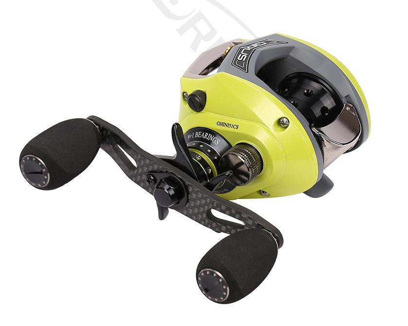 2018 New Haibo Ghini Baitcasting Fishing Reel Centrifugal Brake 6 5 1 9 1BB 169G Free