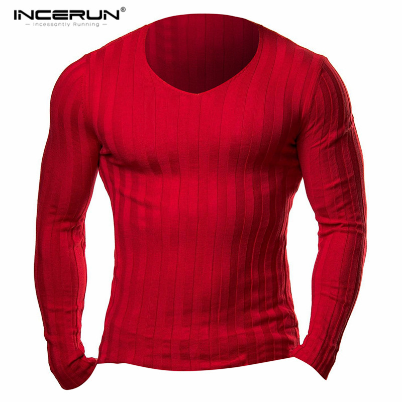 2018 New Winter Brand Clothing Mens Long Sleeve Knitted Homme Fitness Bodybuilding Muscle Gyms Men Crossfit Tops