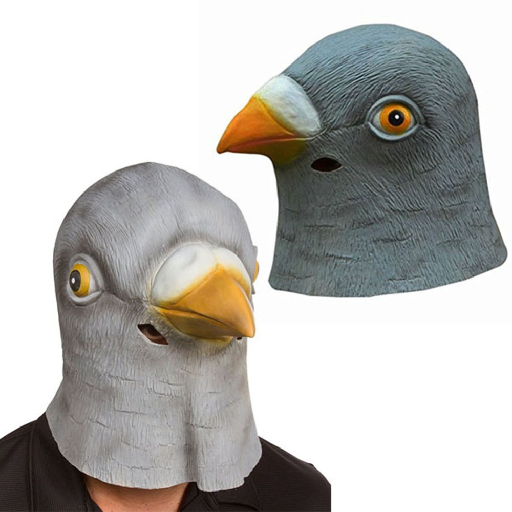Online Shop Pigeon Mask Latex Giant Bird Head Halloween Cosplay ...