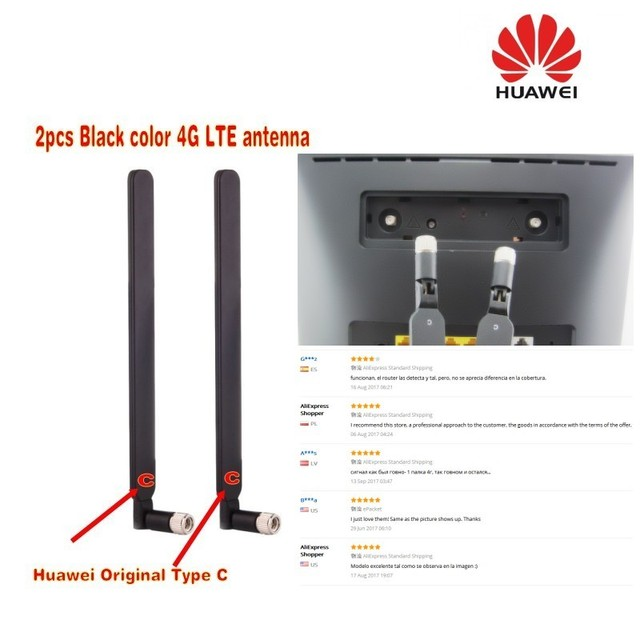 US $7 74 12% OFF GENUINES original Black Huawei 4G LTE for B593 b890 B525  b3000 External Antenna Original Type C (Router/modem not included)-in  Modems