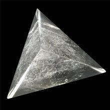 Pyramide de Cristal Tetrahedron, pierres, Cristaux de Pyramide Wicca, Cristal d'île, Pierre Naturelle, décoration de la maison.