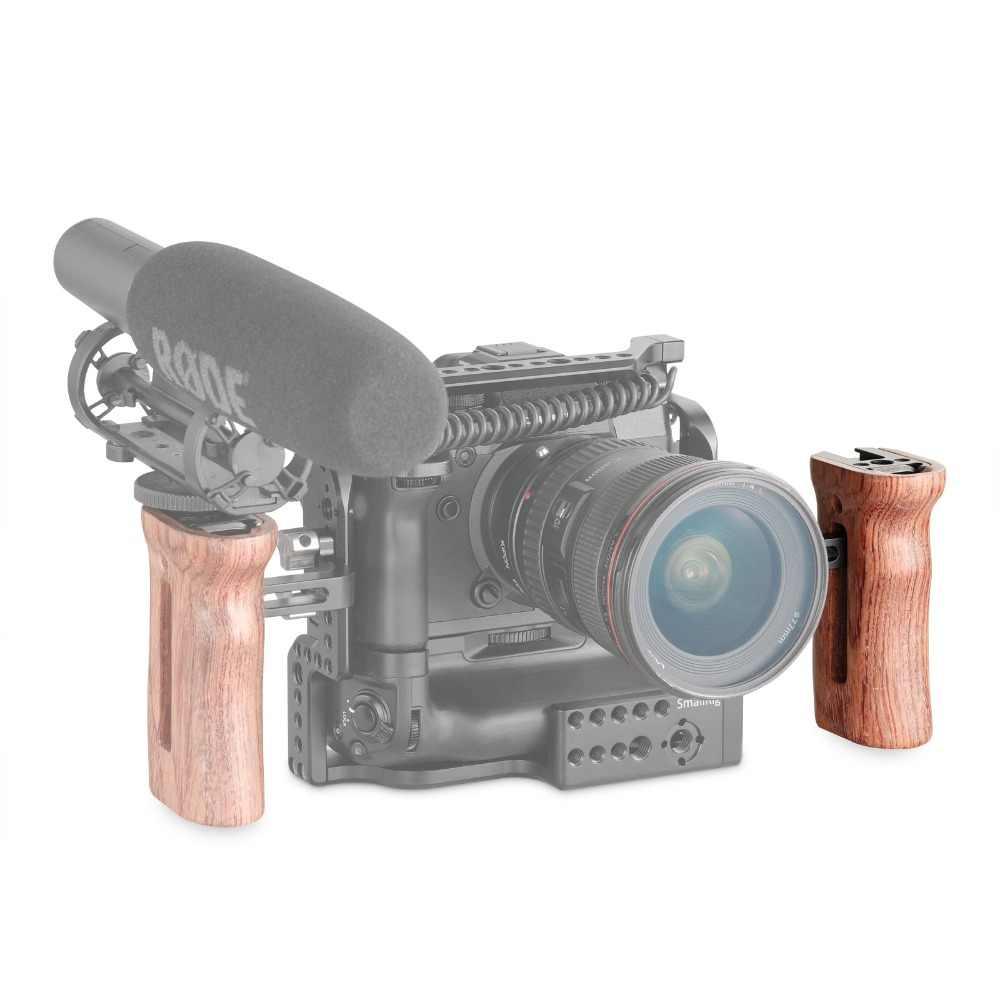 Smallrig Điều Chỉnh Máy DSLR Gỗ Camera Tay Cầm Đa Năng Tay Cầm Phụ Cầm W/Giày Lạnh Ốp Cho Micro Và Đèn LED 2093
