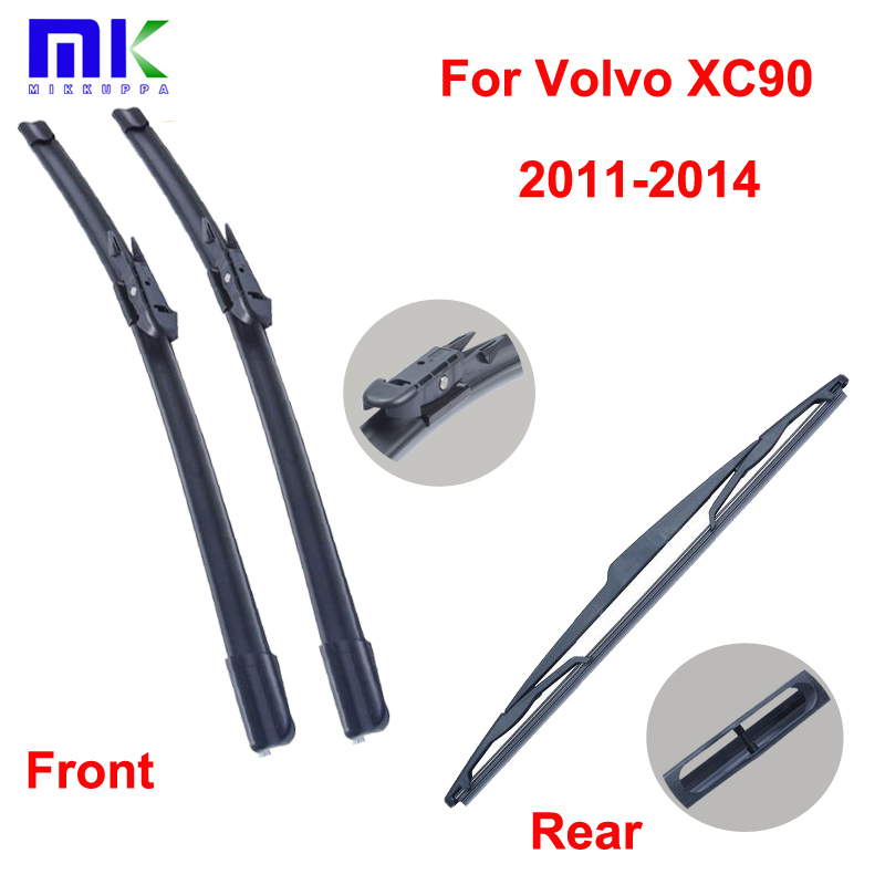 Front & Rear Wiper Blades For Volvo XC90 2011 2012 2013