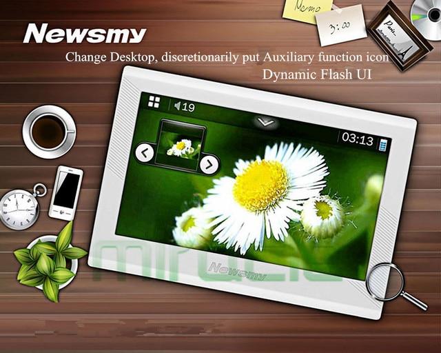 Original MP4 Player with 8GB storage 4.3 Inch Screen mp4, Original Newsmy F45 support TTS FM radio, recording function e-book